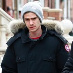 Spiderman's Andrew Garfield wears the Canada Goose Banff Parka