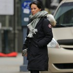 Actress Lucy Liu sporting the Canada Goose Kensington Parka