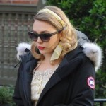 Elizabeth Olsen wearing the Kensington Parka