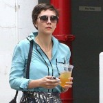 Maggie Gyllenhal loves Birks! Here she is in the Madrid