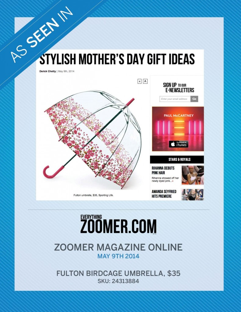 Zoomer Magazine Online – May 9, 2014