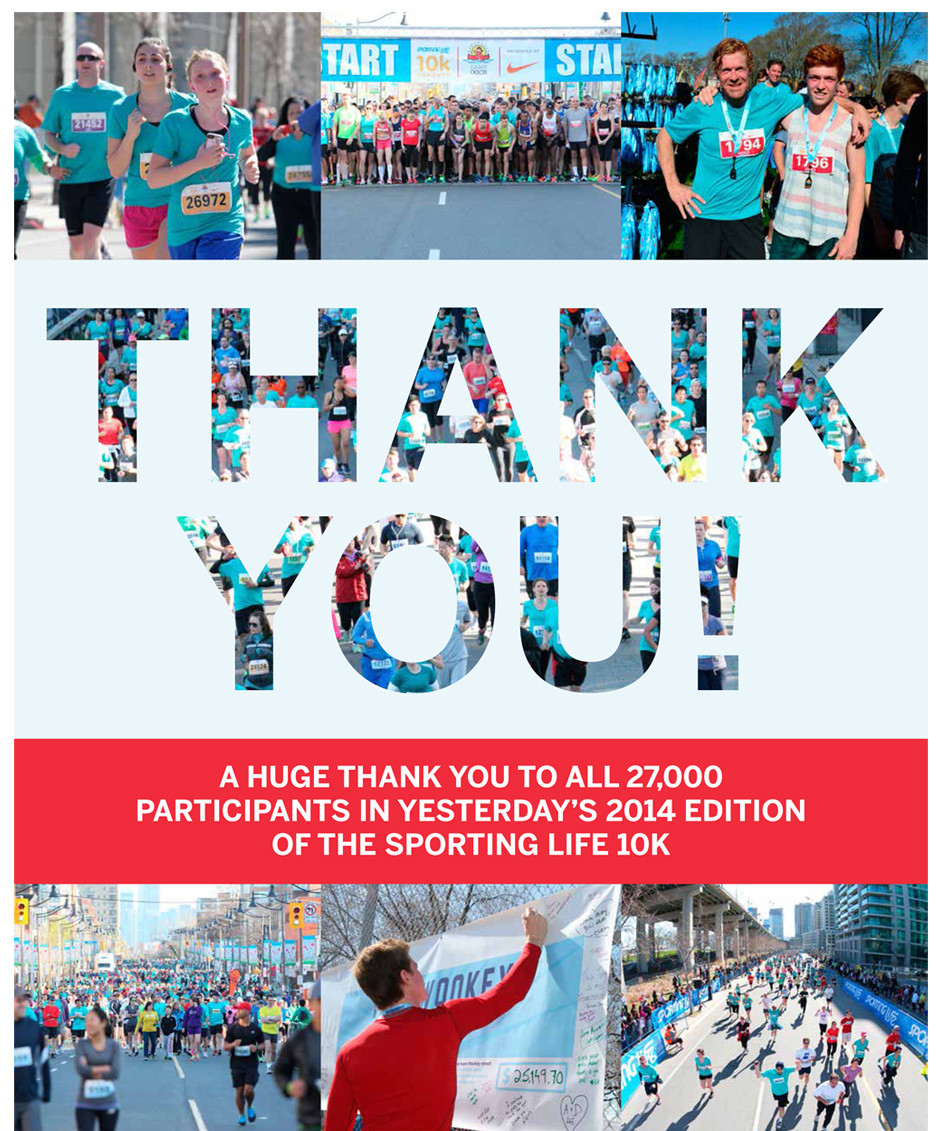 Thank you! To all 27,000 Participants