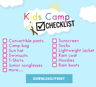 Kids Camp Checklist 2