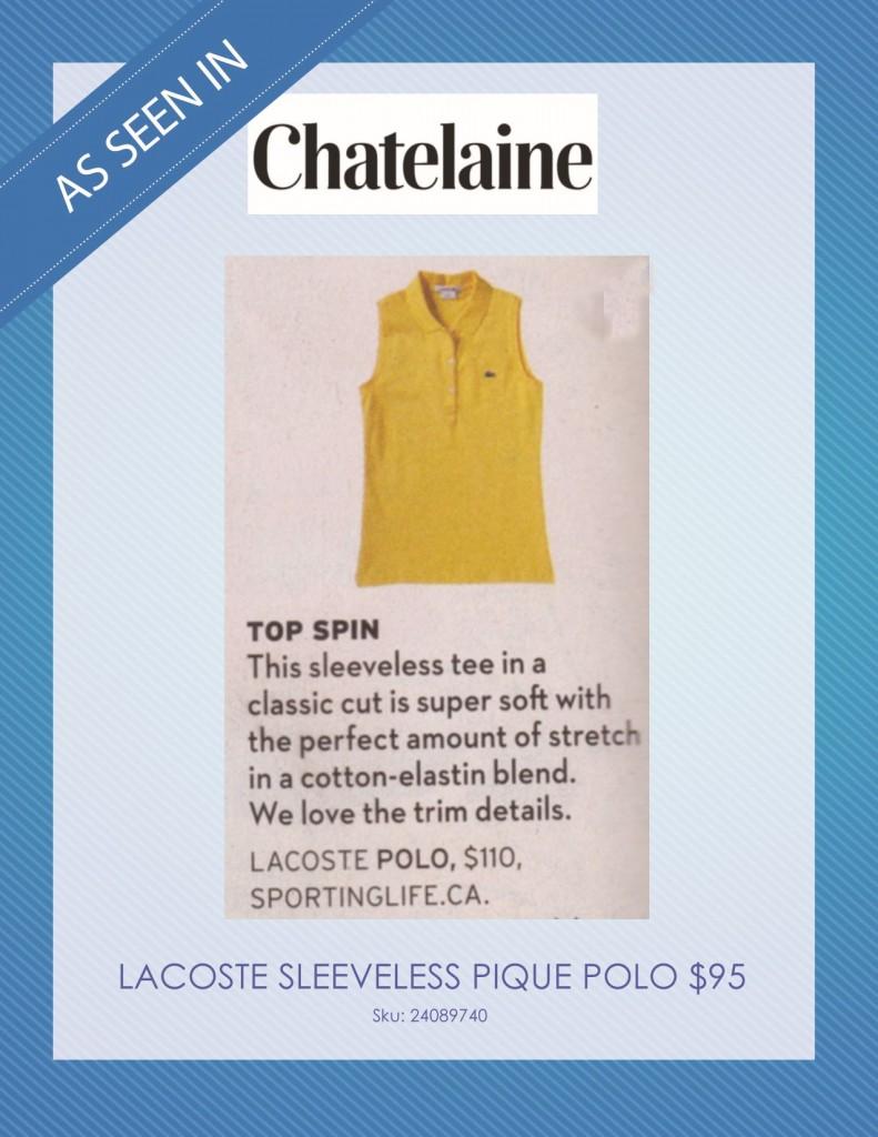 Chatelaine Magazine – August 2014