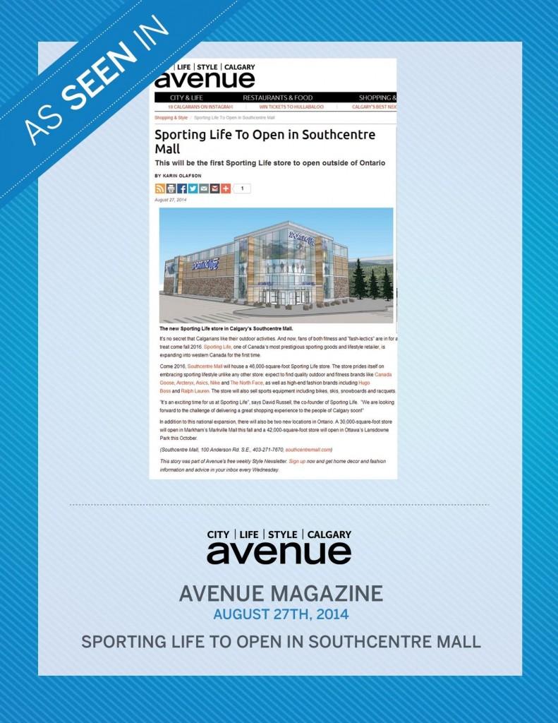 Avenue Magazine – August 27th, 2014