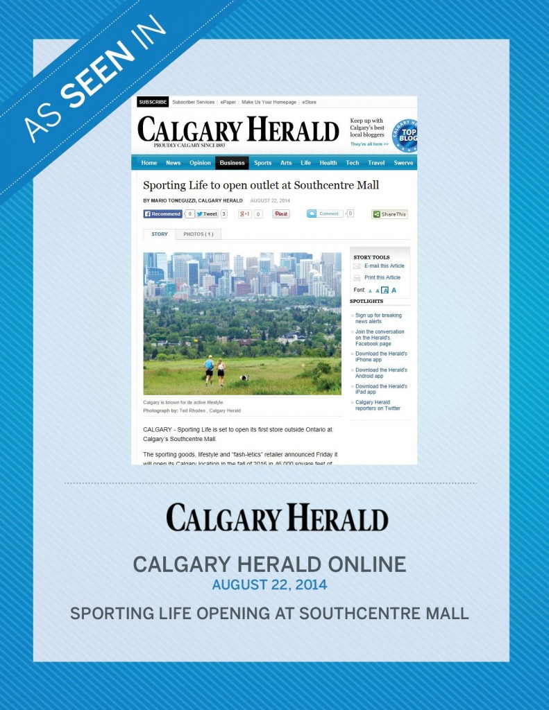 Calgary Herald Online – August 22nd, 2014