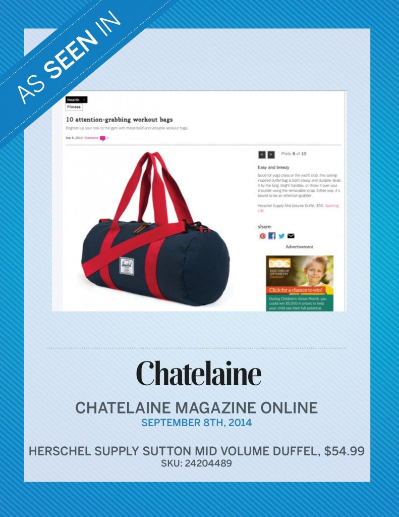 Chatelaine – September 8th, 2014