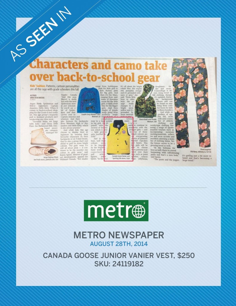Metro Newspaper – August 28th, 2014