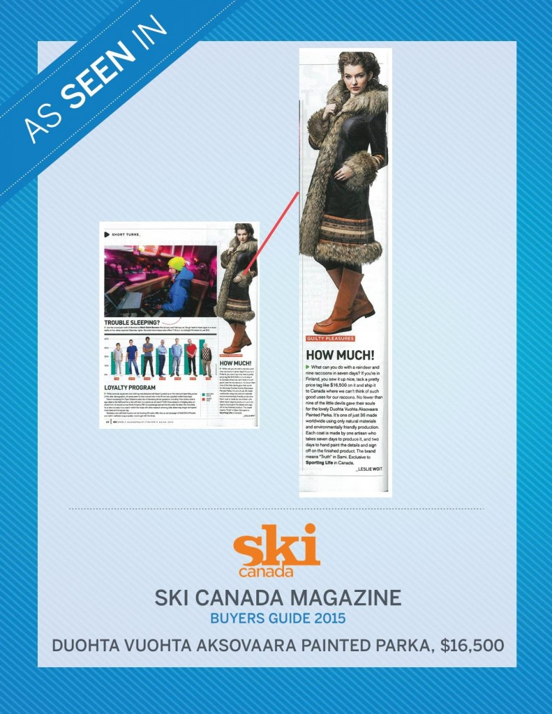 Ski Canada Magazine – Buyer's Guide 2015
