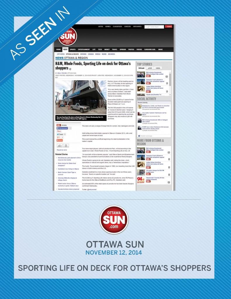 Ottawa Sun – November 12, 2014