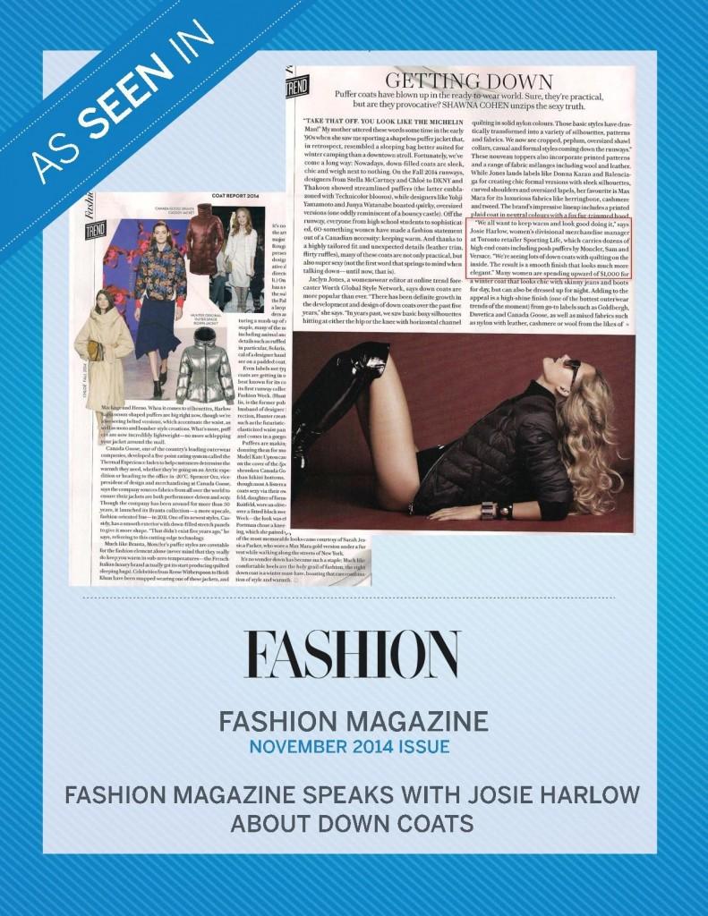 Fashion Magazine – November 2014