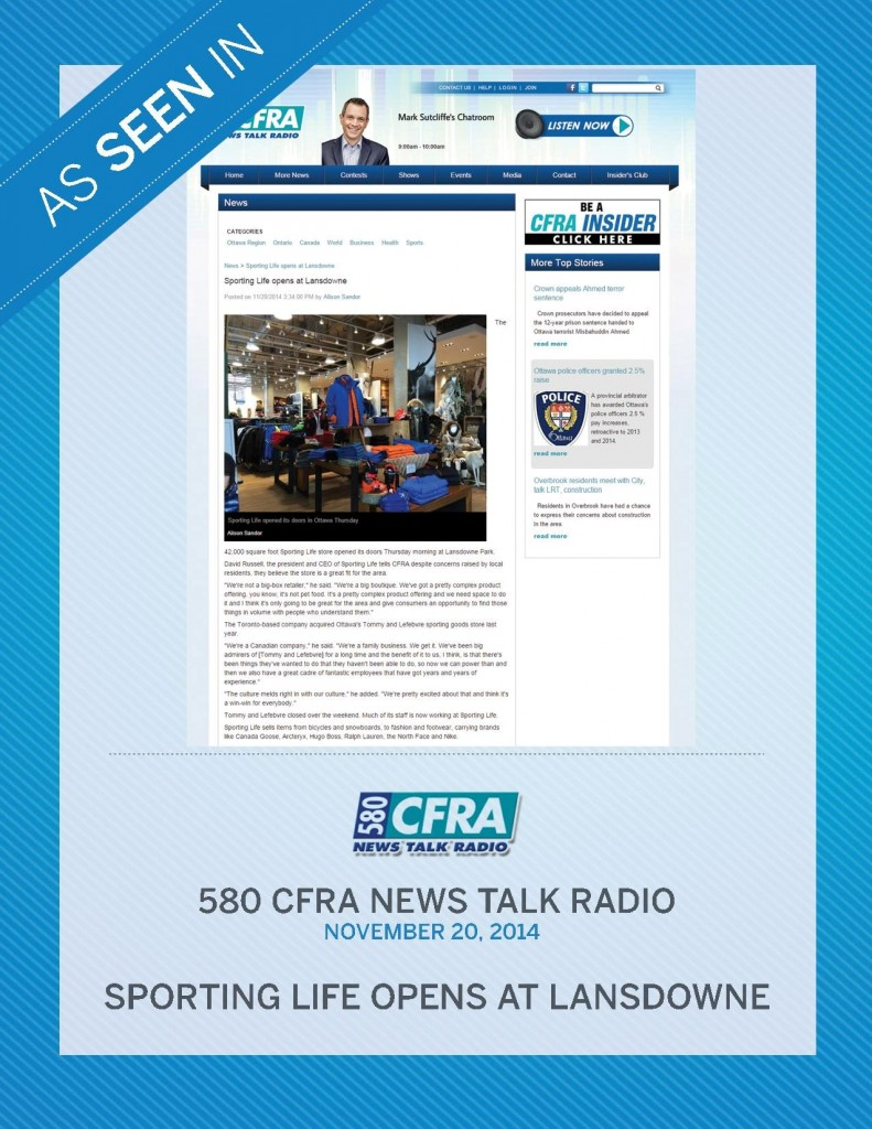 580 CRFA News Talk Radio – November 20th, 2014