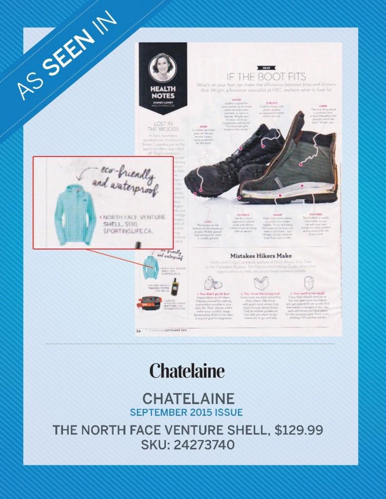 Chatelaine Magazine – September 2015