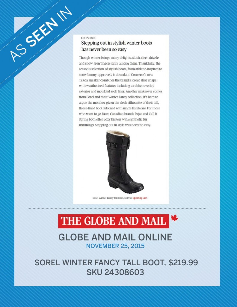 The Globe and Mail Online – November 25th, 2015