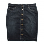 Kut from the Kloth Button-Up Denim Pencil Skirt