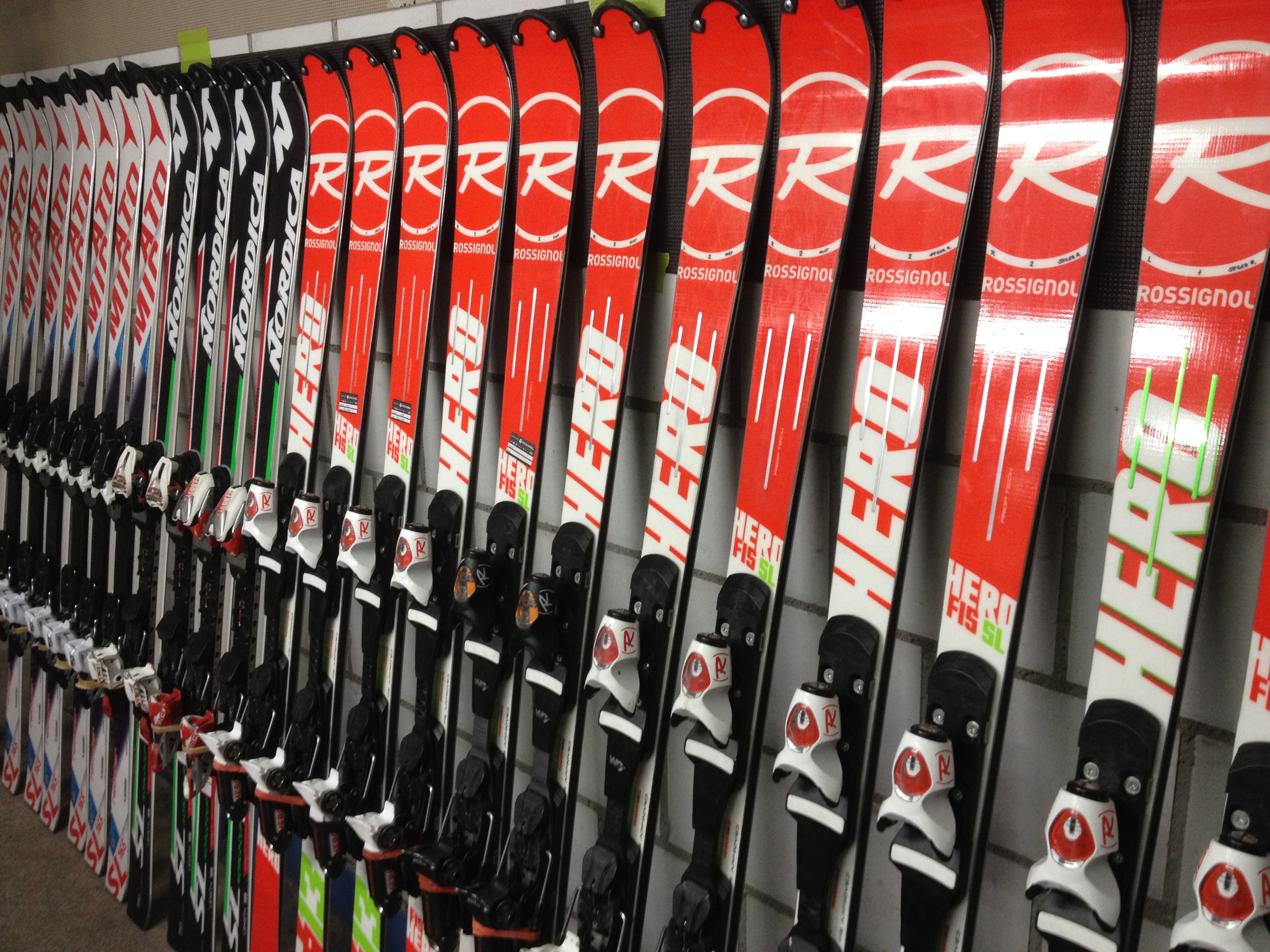 Tuning Skis in Saas-Fee, Switzerland