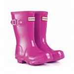 Hunter Junior Girls' [13-5] Original Gloss Boot
