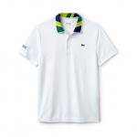 Men's Print Neck Technical Pique Polo